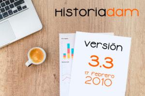 HistoriaDAM: Versión 3.3 - 17 Febrero 2010