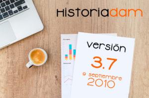 HistoriaDAM: Versión 3.7 - 9 Septiembre 2010