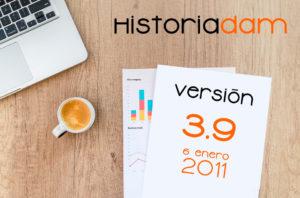HistoriaDAM:Versión 3.9 - 6 Enero 2011