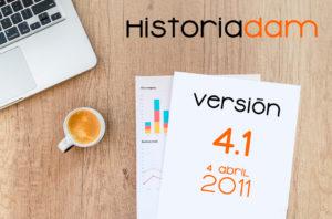 HistoriaDAM: Versión 4.1 - 4 April 2011